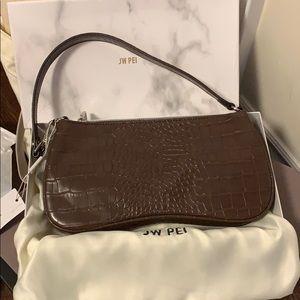 JW Pei Eva Shoulder Bag Brown Croc